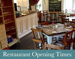 Restaurant Opening Times